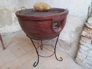 Bonito asador de barro