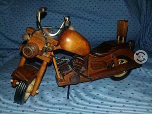 Harley davidson  de madera para colección