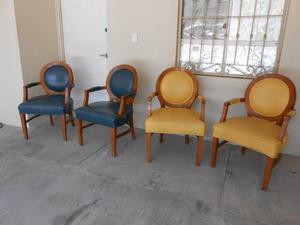 juego de sillones forrados en piel usados
