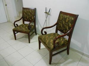 juego de sillones madera fina