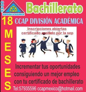 BACHILLERATO 18 MESE CCAP
