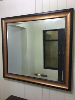 Espejo con marco dorado 80 x 60 cm fdp posot class for Espejo marco dorado
