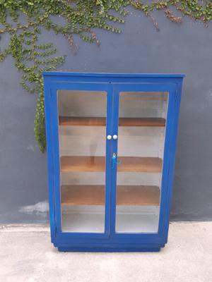 Hermoso librero Vintage en madera de cedro, acabado shabby