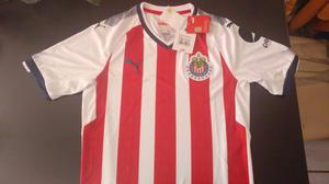 Jersey Oficial Chivas Con 12 Estrellas Talla CH Marca PUMA