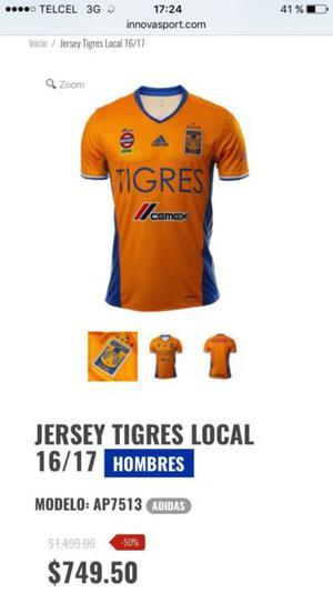 Jersey Tigres 5 estrellas