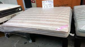 Base de cama y colch n matrimonial hotelero posot class for Base para colchon king size
