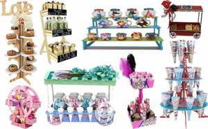 Kit Paq Candy Bar Mesa De Dulces Postres Cupcake F