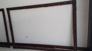 Marcos antiguos madera tallada