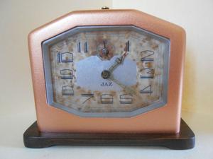 Precioso reloj despertador Art Deco francés JAZ de