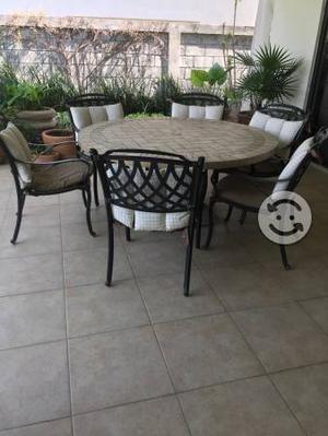 Juego de mesas para jardin