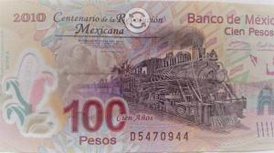 Billete de 100 pesos del centenario de la revoluci