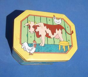 Caja / Cajita De Lamina Vintage
