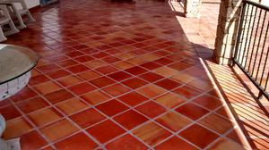 Piso de barro Saltillo artesanal