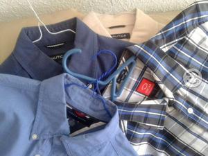 4 camisas finas t, med. oscar de, tommy, nautica