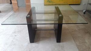 Mesa de comedor de cristal minimalista