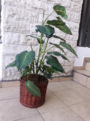 Planta Arbol de plastico con maceta