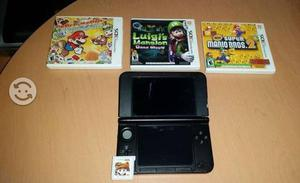 Nintendo 3ds XL Con 4 Juegos Luigui Mansion, Mario