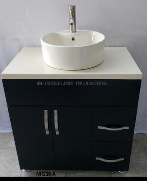 Excelente mueble de ba o cubierta y lavabo ovalin posot - Precio mueble bano ...