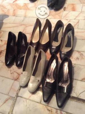5 pares de zapatillas de piel 4.5 y 5