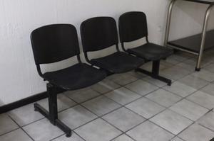 Banca de espera / Banca tandem 3 sillas
