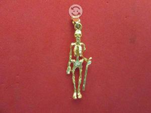 Dije Esqueleto En Oro Sólido de 14k