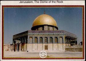 Domo de la Roca Palestina, Postales Jerusalén