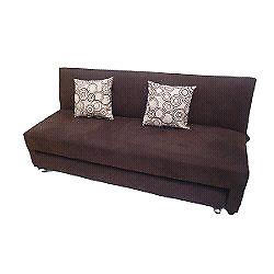 Sofá cama con un par de cojines de regalo!