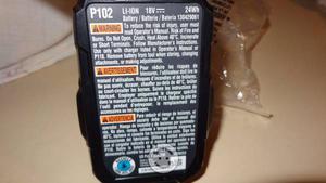 Pila bateria ryobi de 18v nueva
