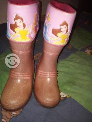 Botas para lluvia princesas