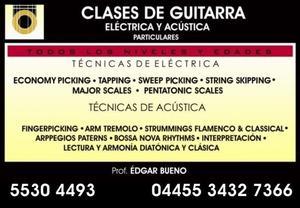CLASES DE GUITARRA ELECTRICA Y ACUSTICA PARA JOVENES Y