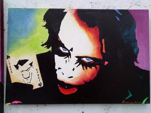 OLEO ORIGINAL DE FRANCISCO ROMERO -JOKER POP ART