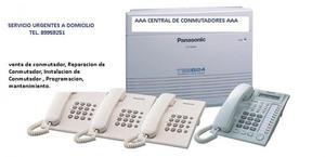 PROGRAMACION A CONMUTADORES TELEFONICO PANASONIC TES824