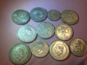 Monedas de plata mexicanas antiguas