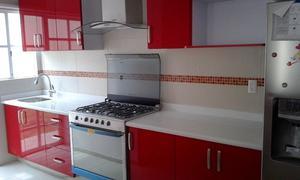 Cocina integral en escuadra con cubierta posot class for Gabinetes cocina integral
