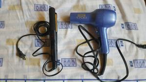 Plancha y secadora para cabello