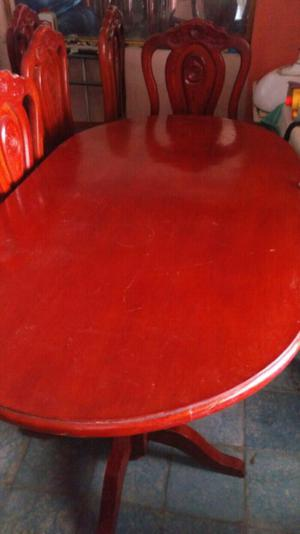 1 mesa y 4 sillas madera de cedro