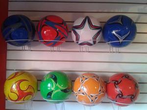 Balones de futbol mayoreo brillantes y llamativos 38 pesos