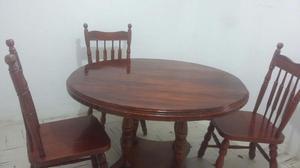 Comedor 3 sillas Madera de Cedro