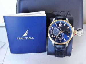 Reloj nautica nuevo,caratula tornasol, 100mwr