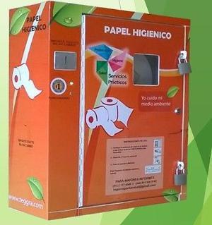 maquina expendeodra de papel higienico