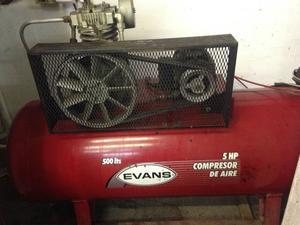 Compresor de aire Evans capacidad 500lt motor 5hp trifasico