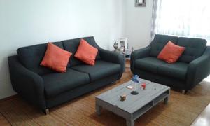 Hermosa Sala Gris con estilo Moderno por solo !!!