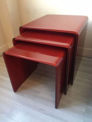 OFERTA $ 3 Mesas vidrio Foshan rojas Nuevas Modernistas