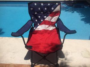 Silla para acampar bandera USA