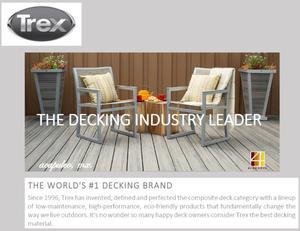 TREX, Bio-Composite Decking, Deck Bio-Compuesto,