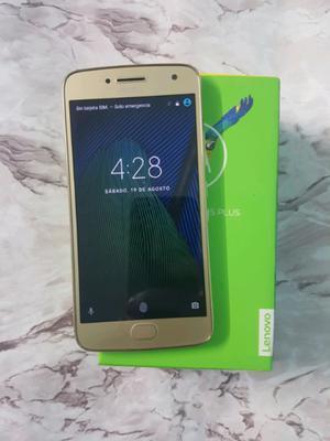 Moto g5 plus dorado como nuevo atyt unefon 32gb