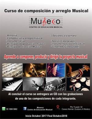 Curso de Composición y arreglo musical.