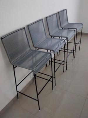 BANCOS PARA BARRA DE COCINA Y BARES, (asiento 70 cm. alto y