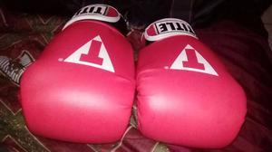 guantes de box title rojos