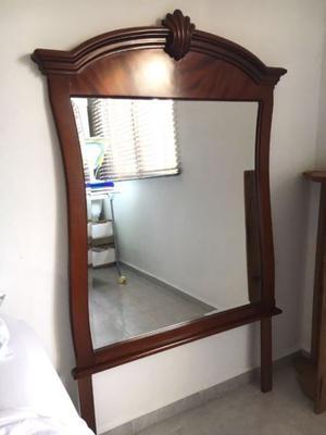 Espejo Grande De Cedro Para Tocador O Credenza